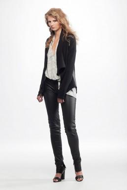 black leather trousers JANBOELO