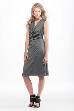 grey dress by JANBOELO
