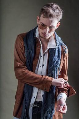 Jan Boelo brown jacket custom made garments