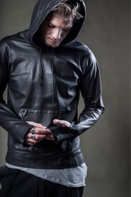 For those who dare JANBOELO leather hoodie