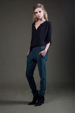 JANBOELO A female model jogging pants blouse by JANBOELO custom made