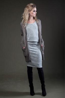 Jan Boelo female model dress JANBOELO custom made garments designed by jan boelo