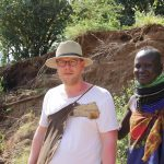 Jan Boelo learning about leather from the masai across the border in Kenya