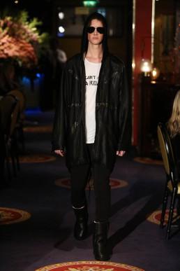 JANBOELO black coat with Bolon Eyewear sunglasses