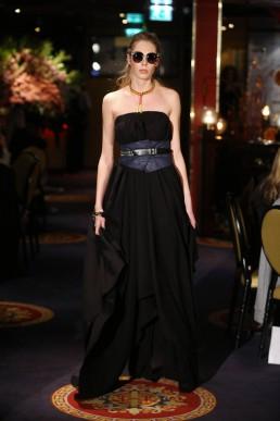 JANBOELO show bolon eyewear black evening dress