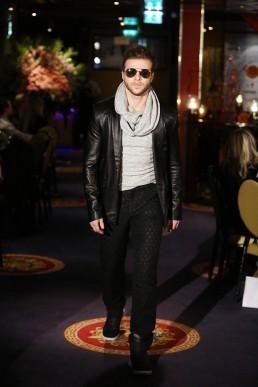 JANBOELO   black leather coat by JANBOELO