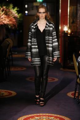 JANBOELO   silver striped coat designed by JANBOELO